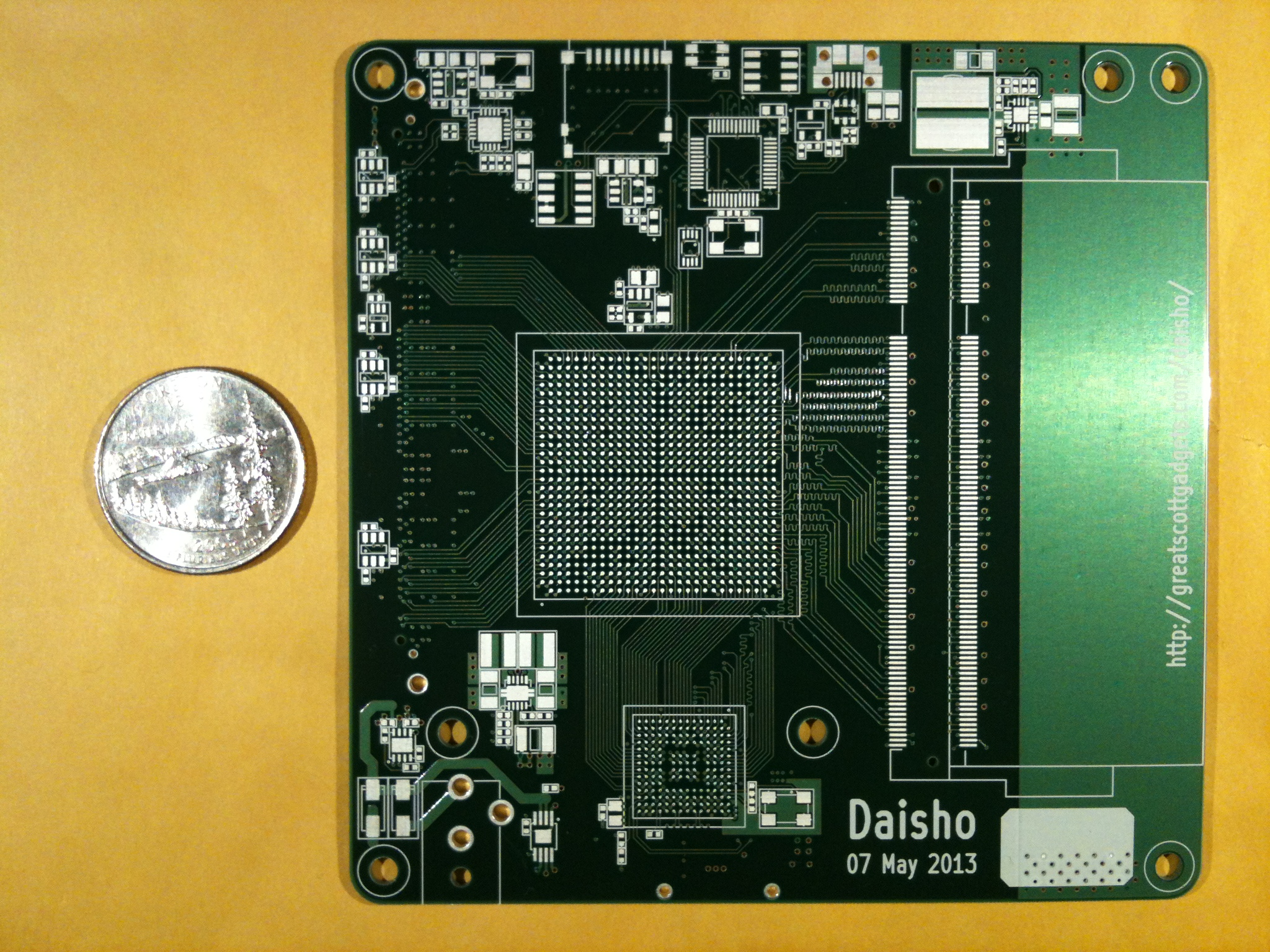 First fabricated Daisho project main boards are back from manufacturing.