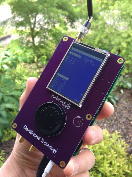 The PortaPack for HackRF One is Operational