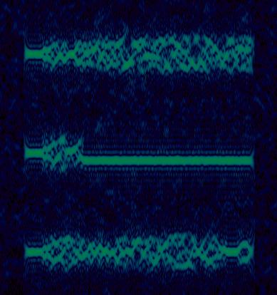 Iridium bursts on multiple frequencies